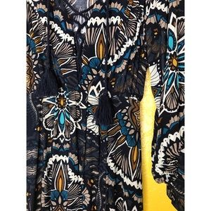 H&M Dresses - H&M boho maxi dress, long sleeves and side slits